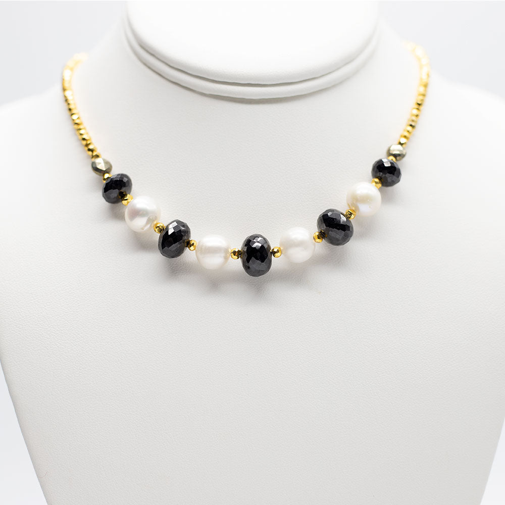 Leilia Spinel & Pearl Necklace