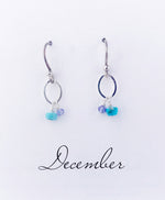 Silver December Birthstone Earrings