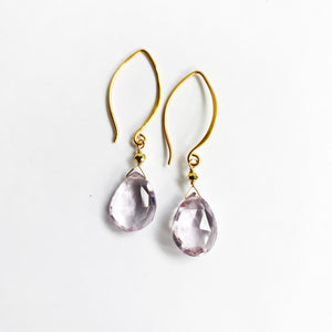 Load image into Gallery viewer, Amethyst Droplet Earring