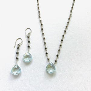 Green Amethyst Waterfall Necklace