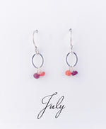 Silver July Birthstone Earrings