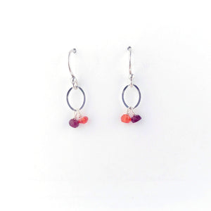 Load image into Gallery viewer, Silver July Birthstone Earrings