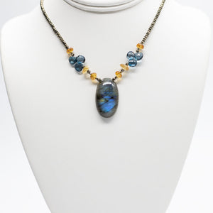 Labradorite and Citrine Pendant Necklace