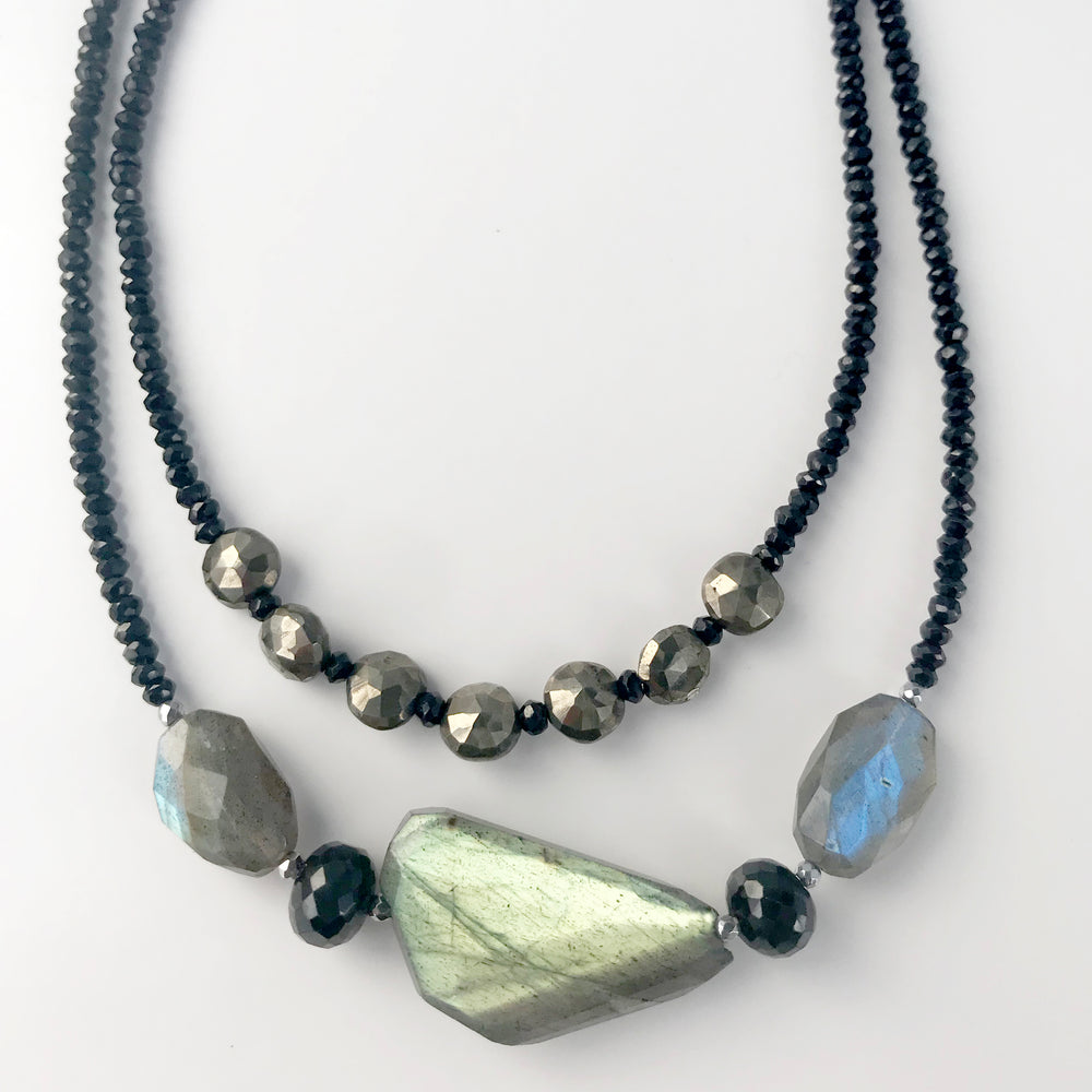 Labradorite and Spinel Claudina Necklace