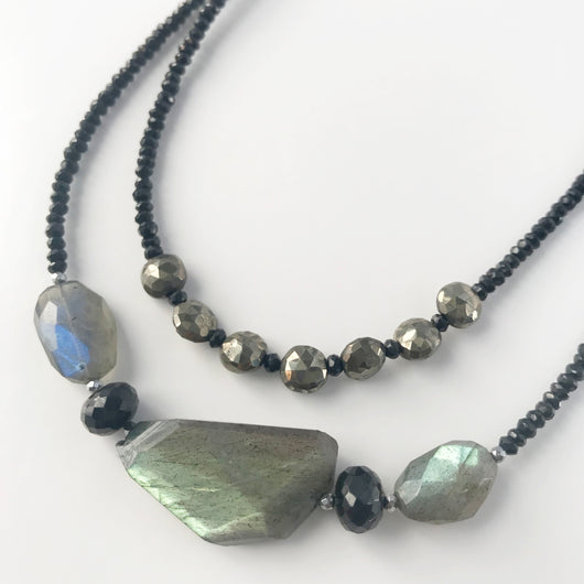 Claudina Necklace Labradorite and Spinel