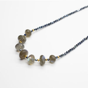 Leilia Labradorite and Sapphire Necklace
