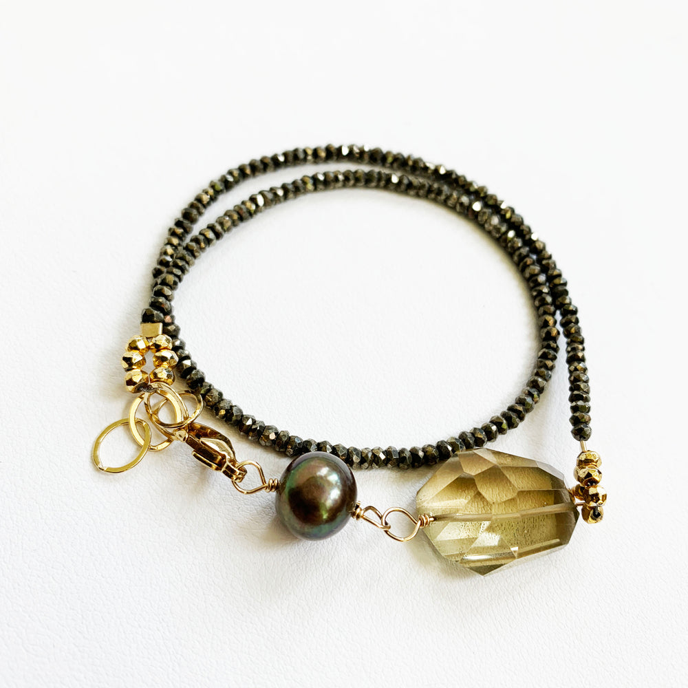 Lemon Quartz Wisteria Wrap Bracelet