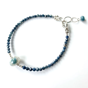 Blue Moonstone Luna Simple Bracelet