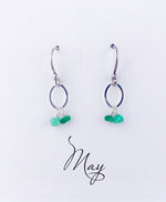 Silver May Birthstone Earring