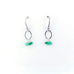 Silver May Birthstone Earrings