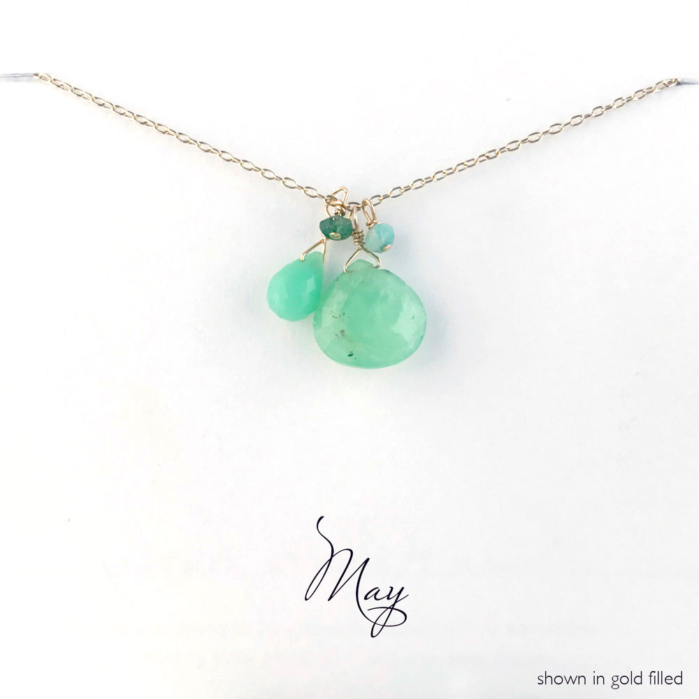 Load image into Gallery viewer, Gold-Filled May Birthstone Necklace