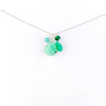Silver May Birthstone Necklace