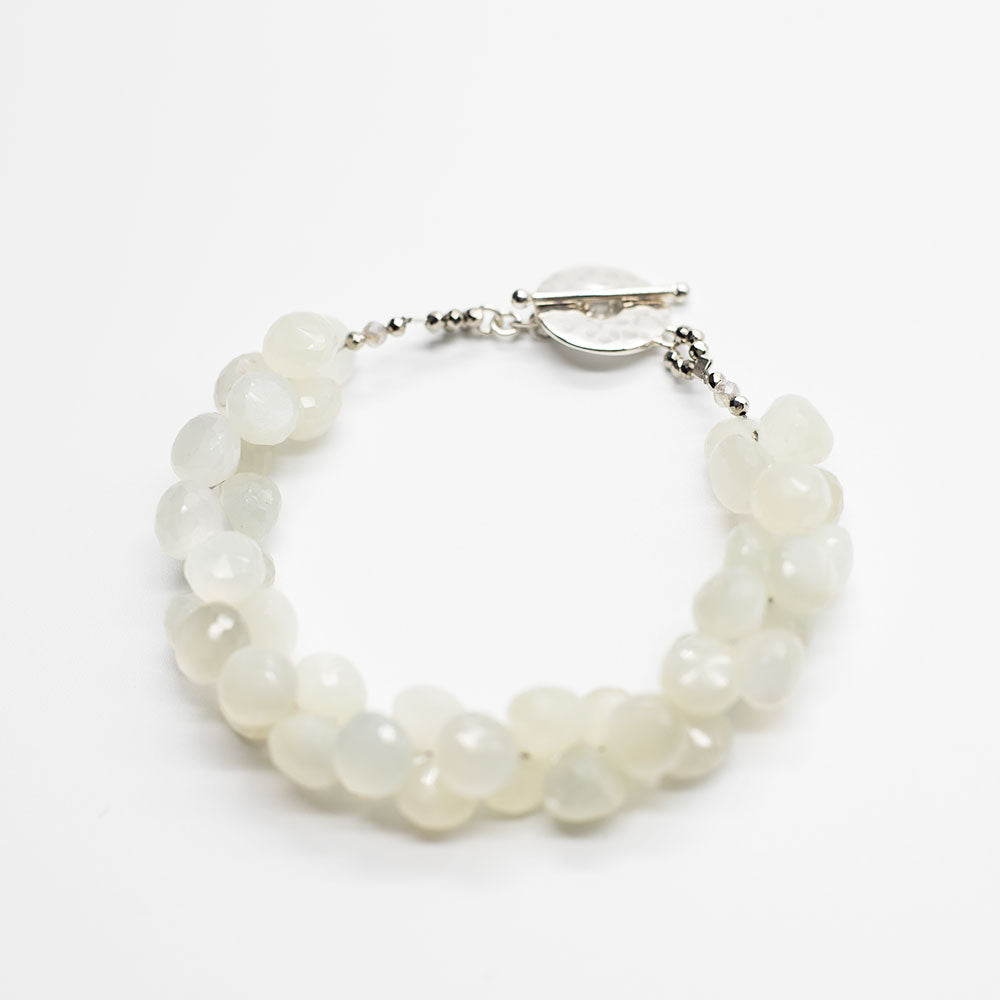 Load image into Gallery viewer, Moonstone Cluster Bracelet