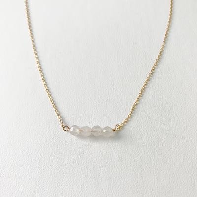 Moonstone Bar Necklace