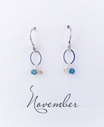 Silver November Birthstone Earring
