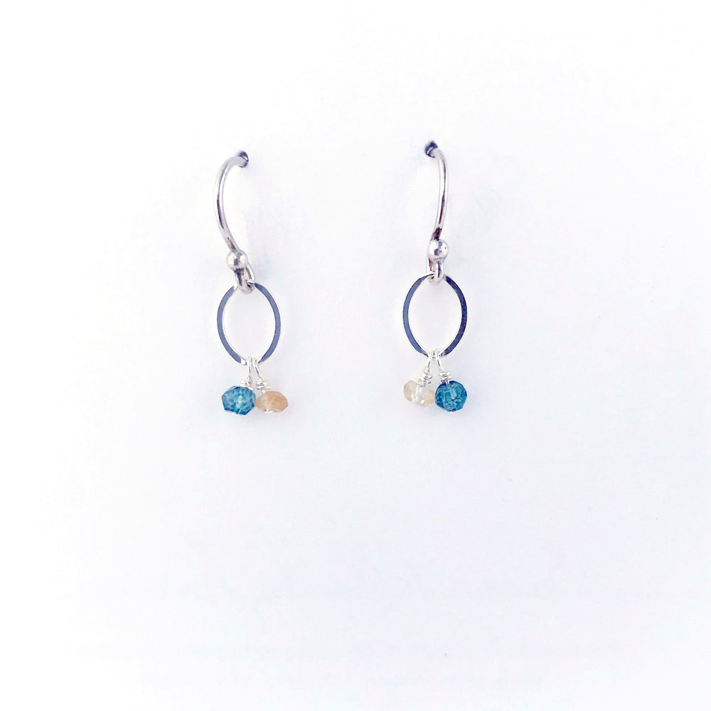 Load image into Gallery viewer, Silver November Birthstone Earrings