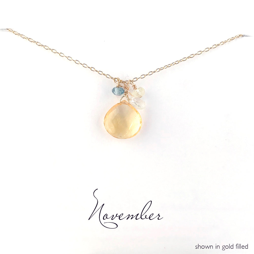 Load image into Gallery viewer, Gold-Filled November Birthstone Necklace