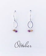 Silver October Birthstone Earring