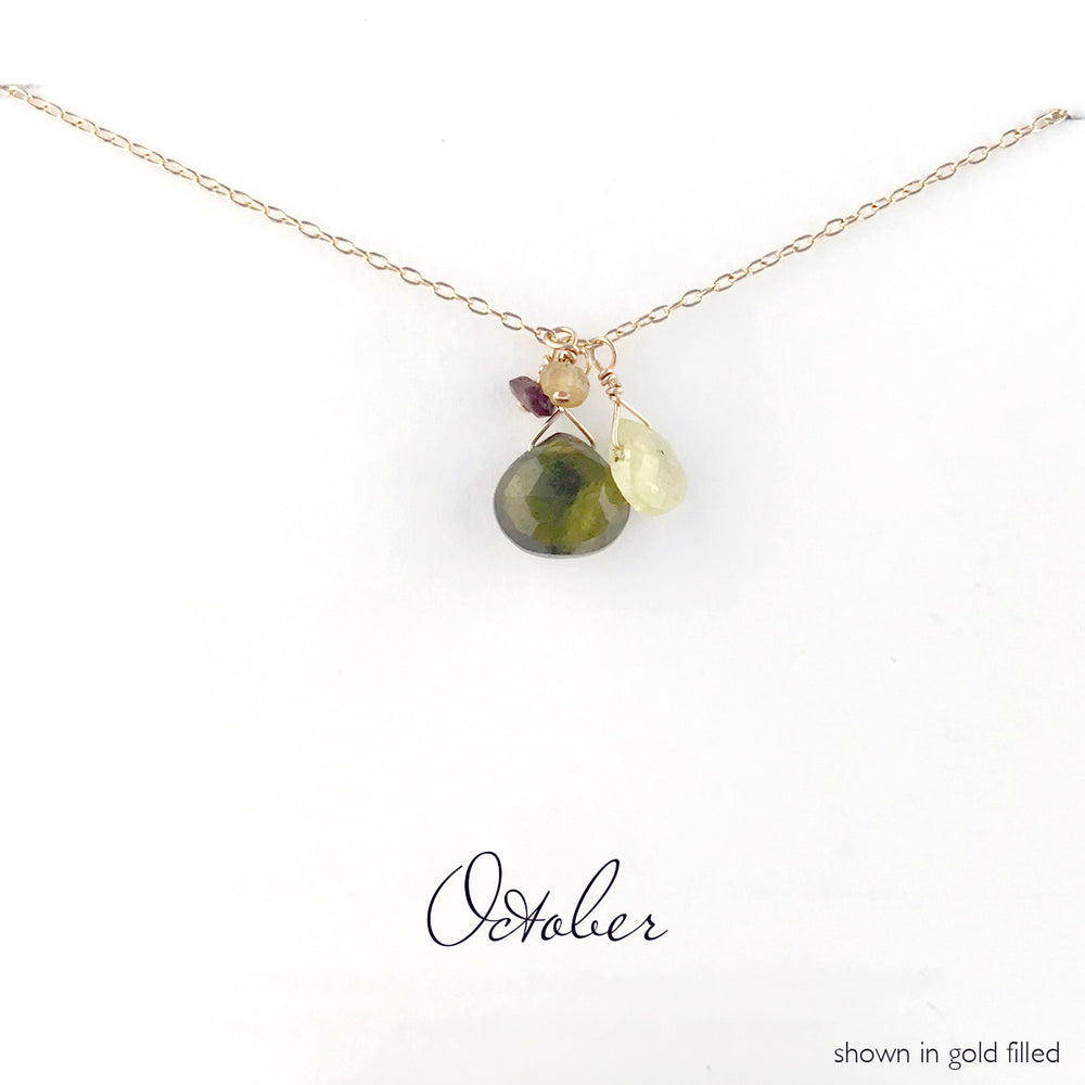 Load image into Gallery viewer, Gold-Filled October Birthstone Necklace