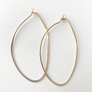 Hoops Oval Hand Hammered Earrings