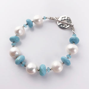 Load image into Gallery viewer, Blue Opal Leilia Bracelet