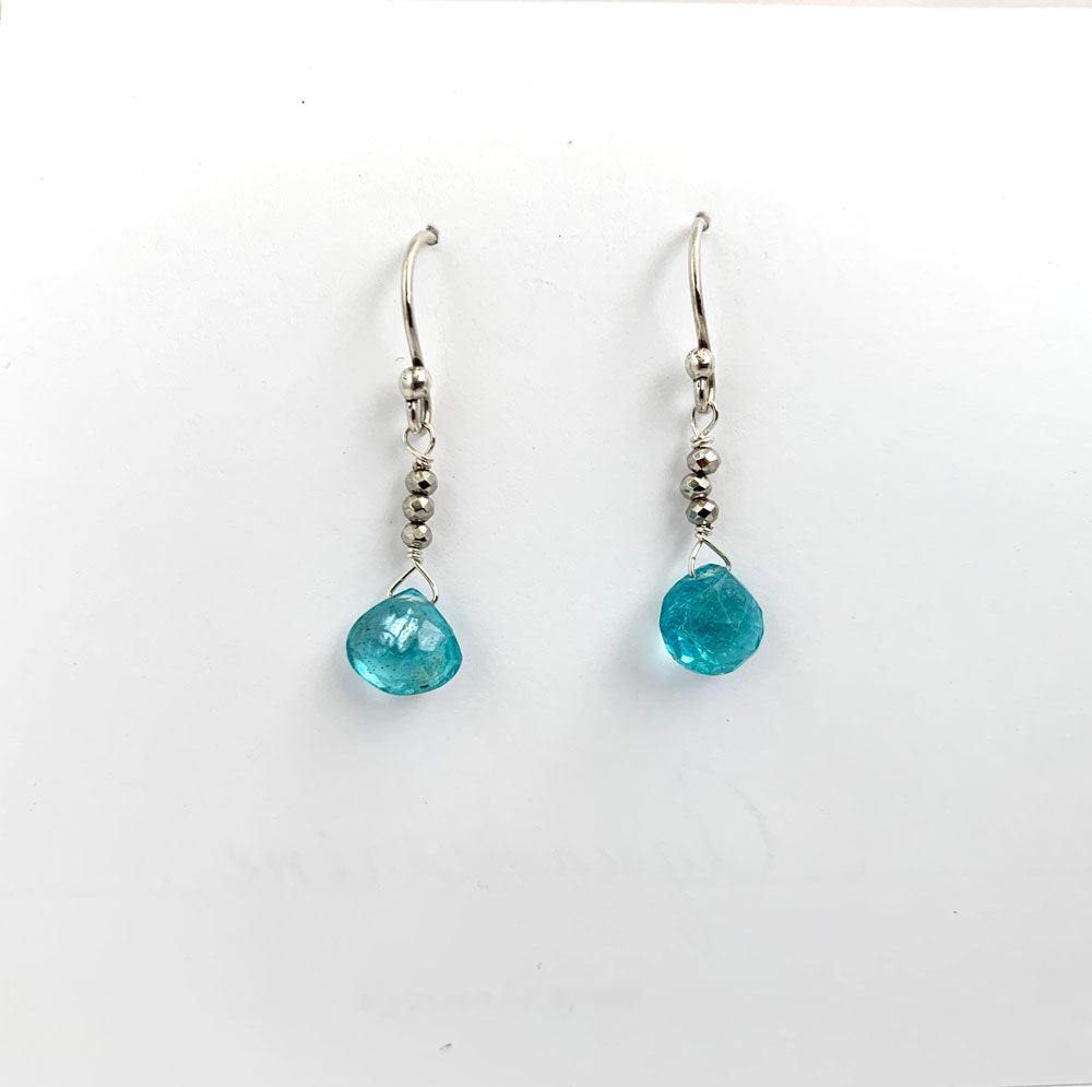 Apatite Raindrop Earrings