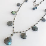 Ramble Labradorite with Pyrite Necklace