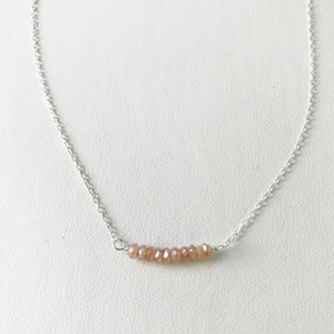 Rhodonite Bar Necklace