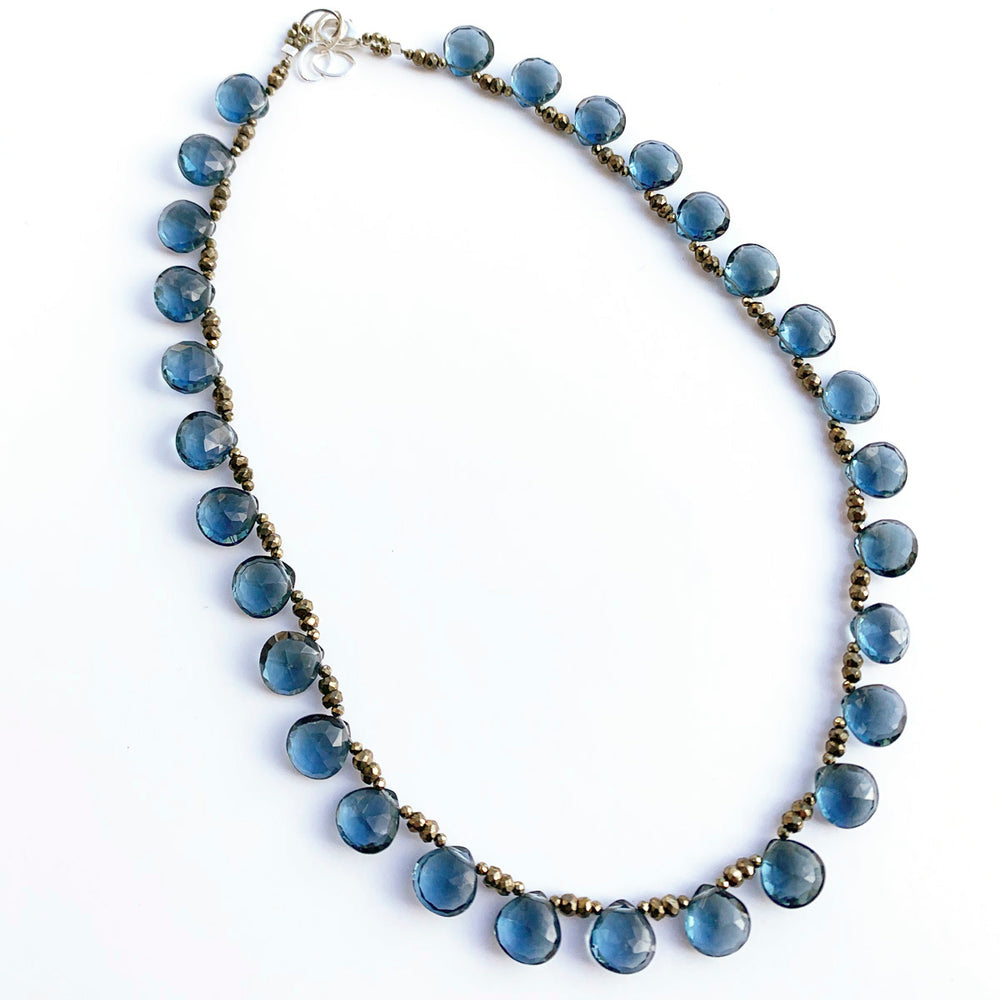 Blue Quartz Ruffle Necklace