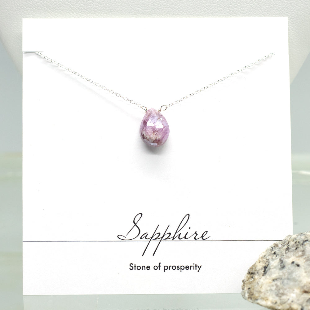 Load image into Gallery viewer, Pink Sapphire Heart Necklace