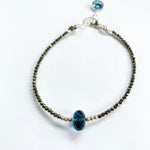 Blue Quartz Luna Simple Bracelet