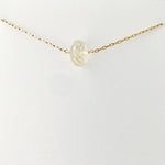Simple Gold lemon Quartz Necklace