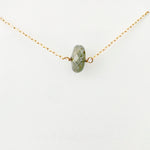 Simple Gold Pyrite Necklace