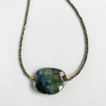 Labradorite Simple Nugget Necklace