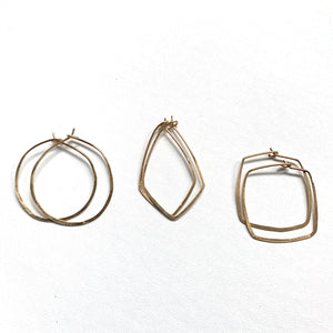 Hoops Small Hand Hammered Earrings