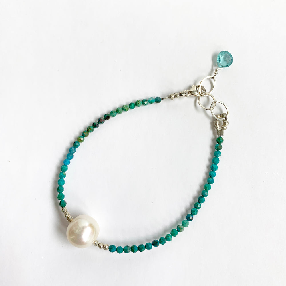 Load image into Gallery viewer, Turquoise Simple Luna Bracelet
