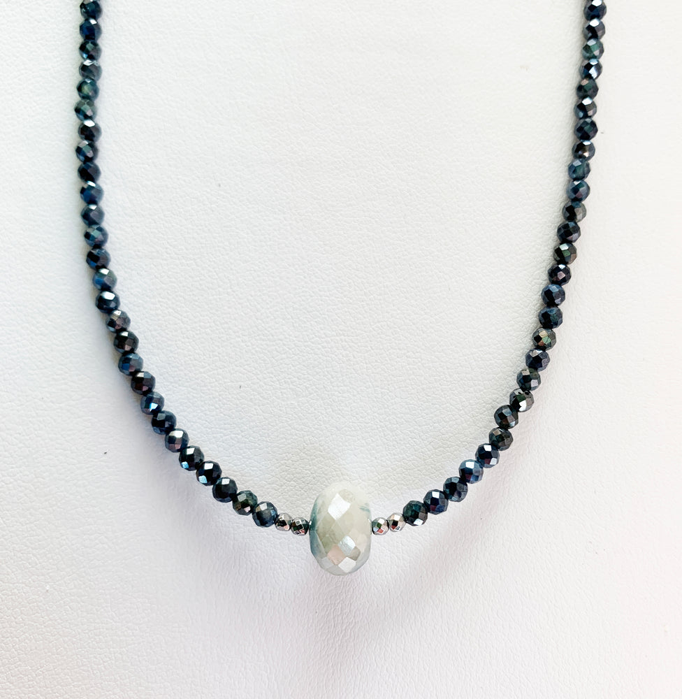 Load image into Gallery viewer, Blue Moonstone Luna Necklace