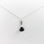Black Spinel Raindrop Necklace