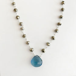 Waterfall Blue Quartz Necklace