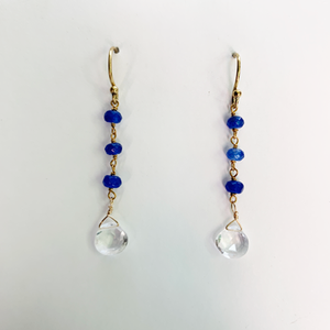 Load image into Gallery viewer, Quartz Waterfall Earrings