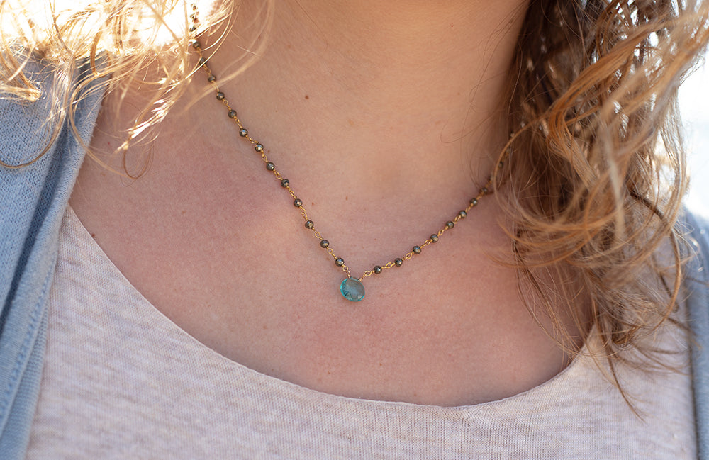 Waterfall Apatite Necklace