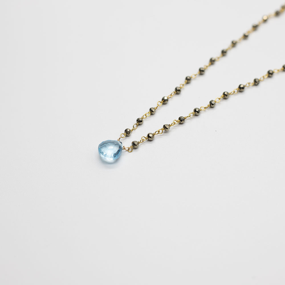 Waterfall Aquamarine Gold-filled Necklace
