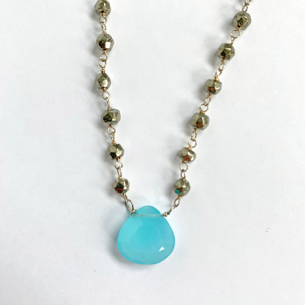Waterfall Chalcedony Necklace