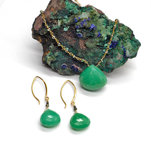 Load image into Gallery viewer, Chrysoprase Waterfall Necklace