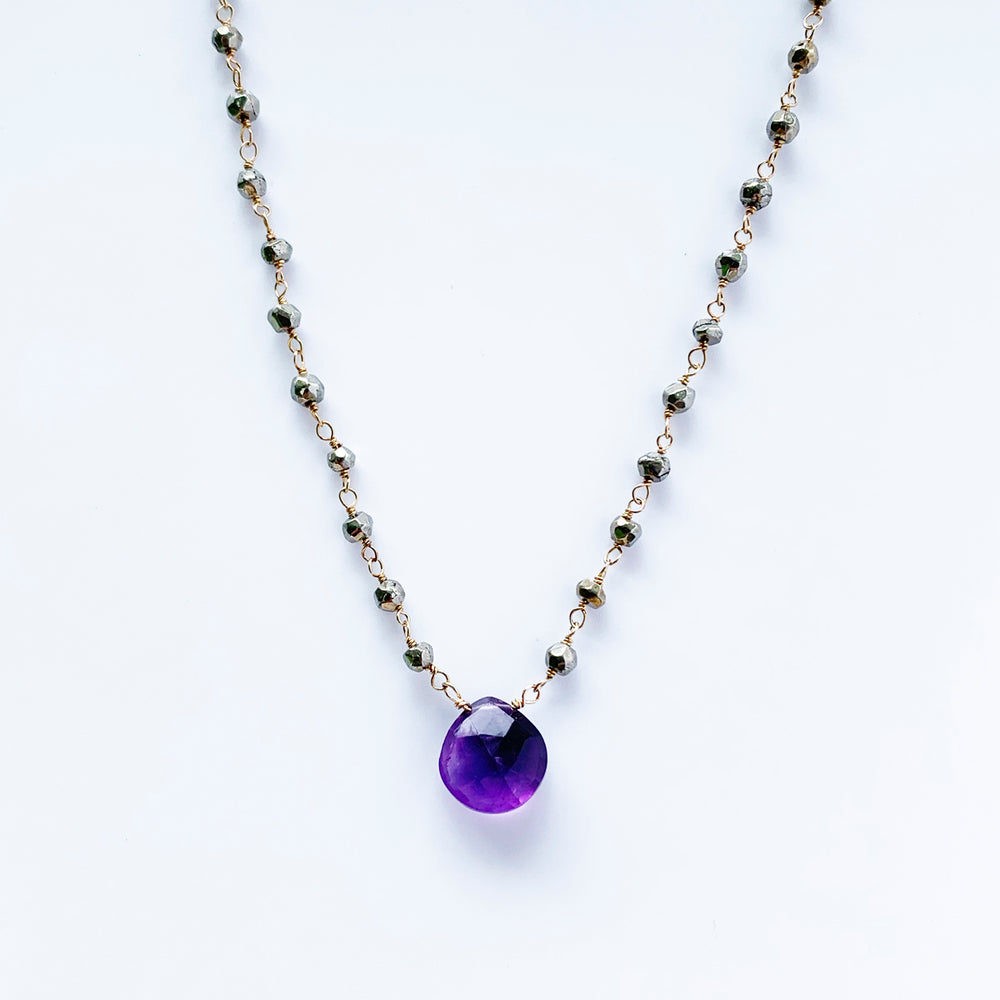 Waterfall Amethyst Necklace