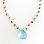 Large Green Amethyst Waterfall Necklace