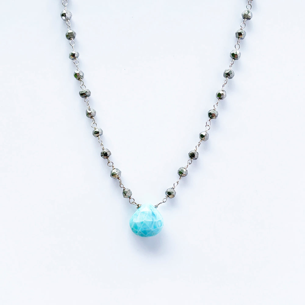 Waterfall Blue Opal Necklace