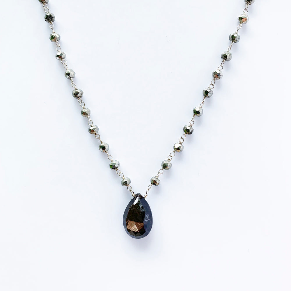 Waterfall Brown Sapphire Necklace