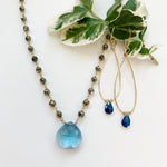 Waterfall Blue Quartz Gold-filled Necklace
