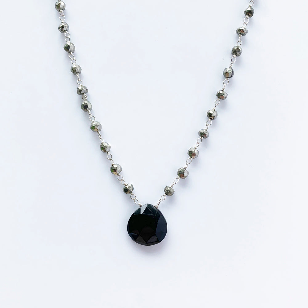 Waterfall Black Spinel Necklace